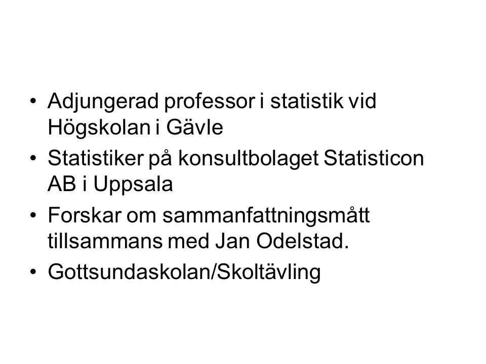 Adjungerad professor i statistik vid Högskolan i Gävle