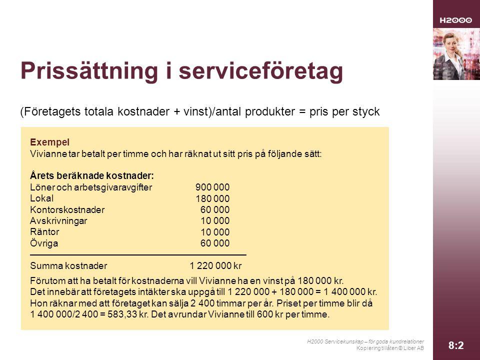 Prissättning i serviceföretag