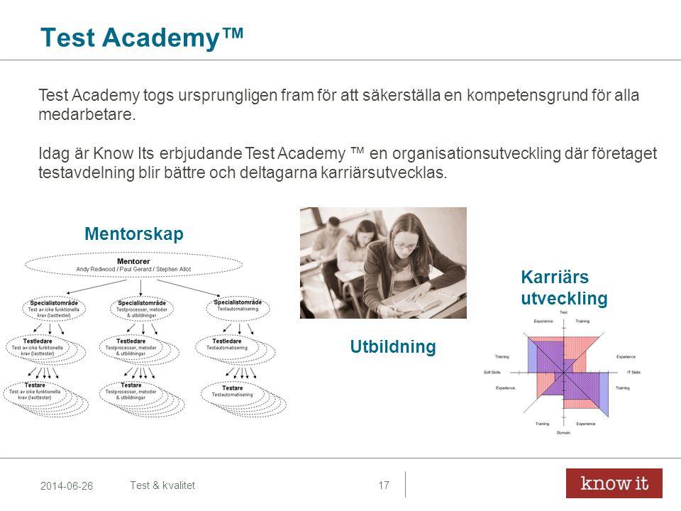 Test Academy™ Mentorskap Karriärs utveckling Utbildning