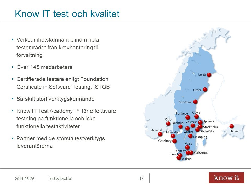 Know IT test och kvalitet