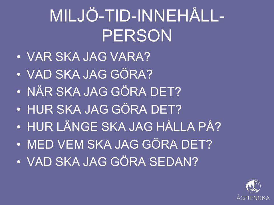 MILJÖ-TID-INNEHÅLL-PERSON