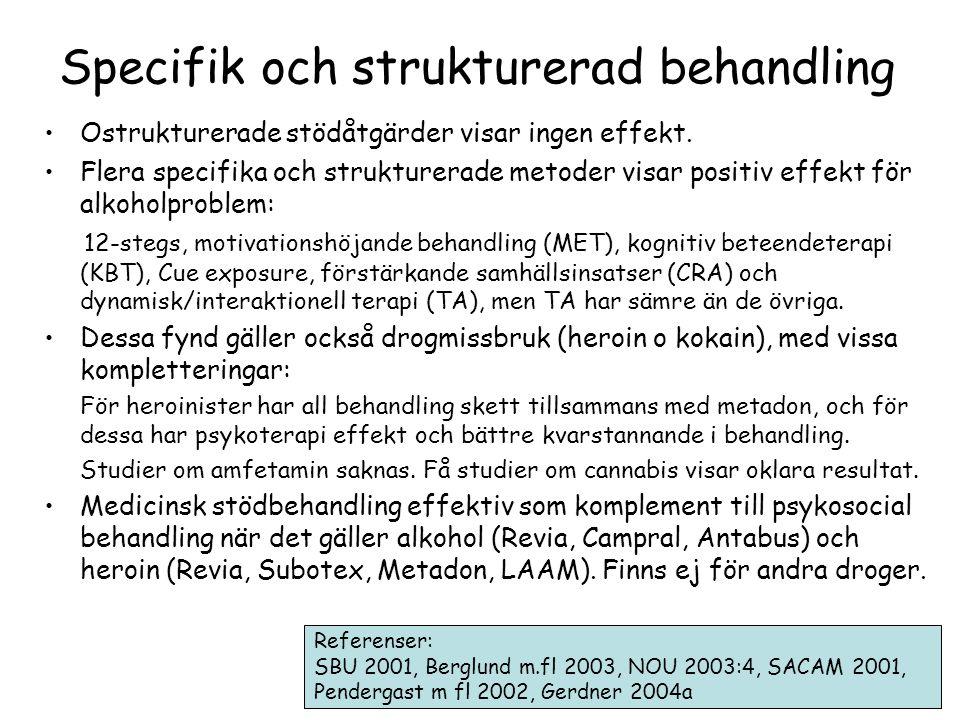 Specifik och strukturerad behandling