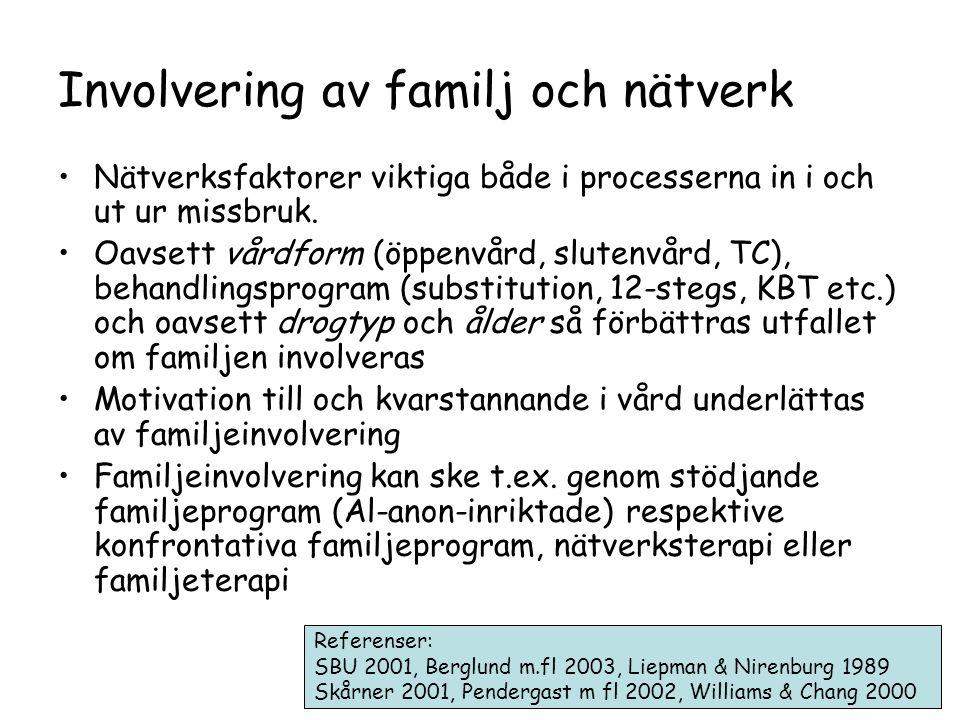 Involvering av familj och nätverk