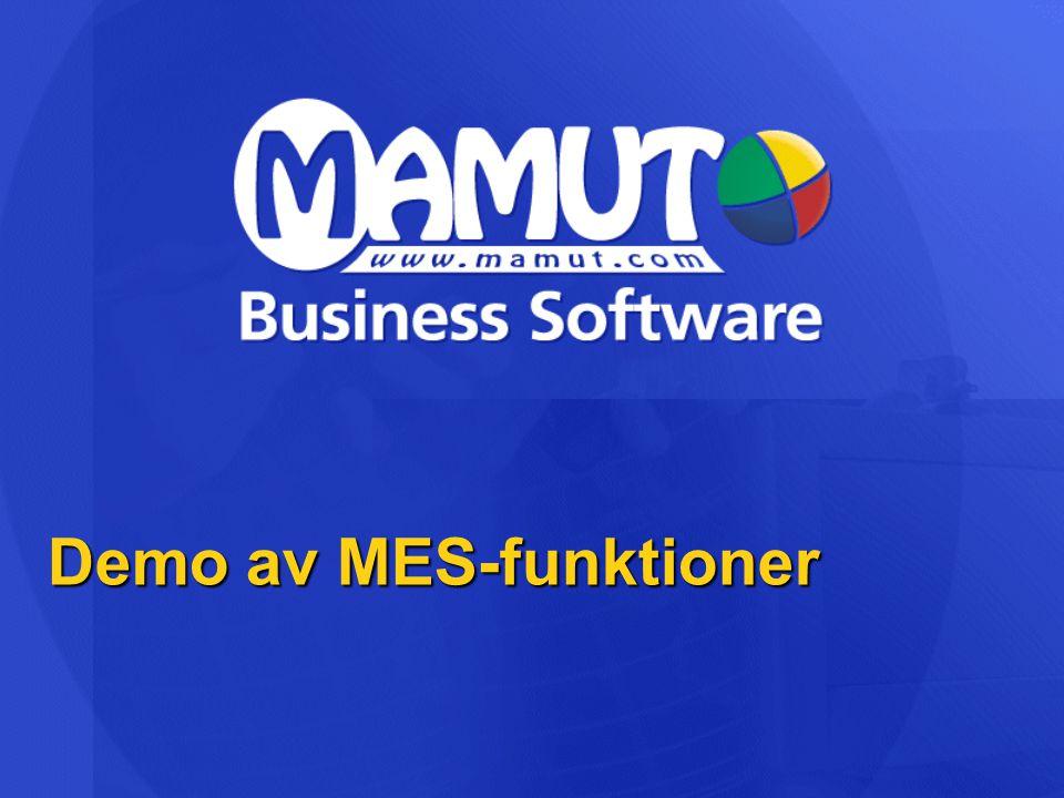 Demo av MES-funktioner