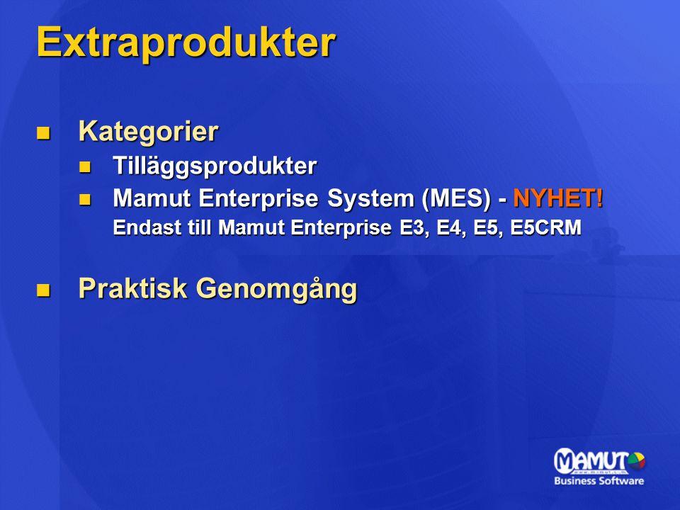 Extraprodukter Kategorier Praktisk Genomgång Tilläggsprodukter