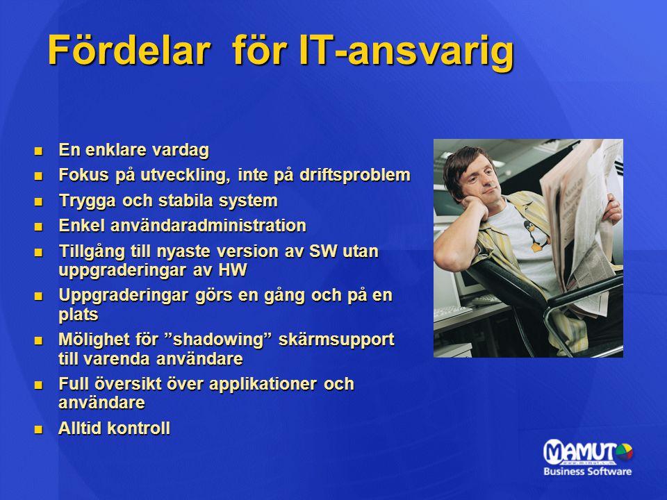 Fördelar för IT-ansvarig