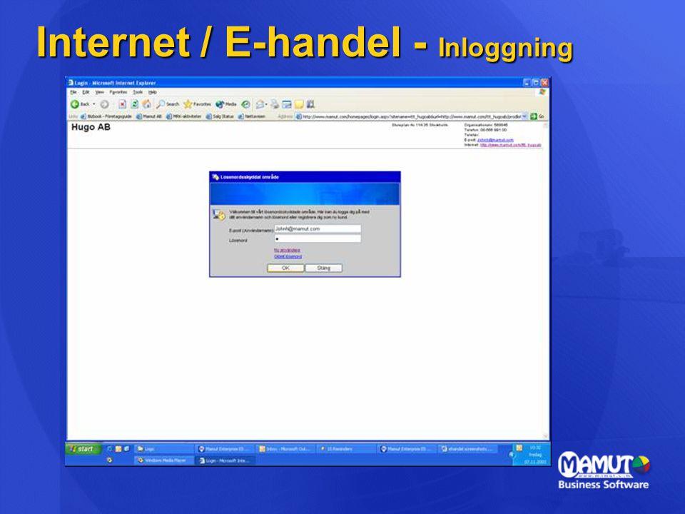Internet / E-handel - Inloggning
