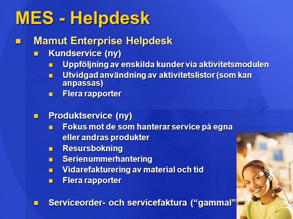 MES - Helpdesk Mamut Enterprise Helpdesk Kundservice (ny)