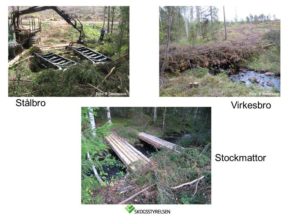 Foto: P Simonsson Foto: B Pettersson Stålbro Virkesbro Stockmattor