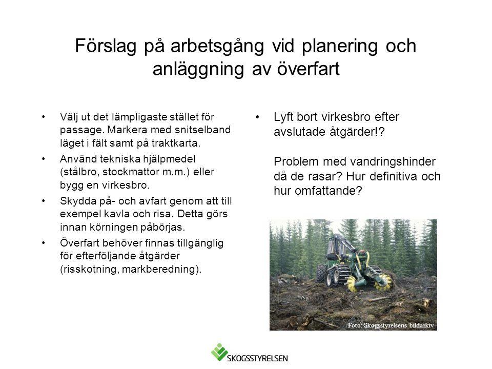 Förslag på arbetsgång vid planering och anläggning av överfart