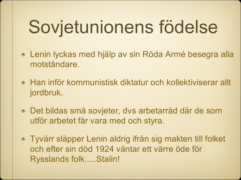 Sovjetunionens födelse