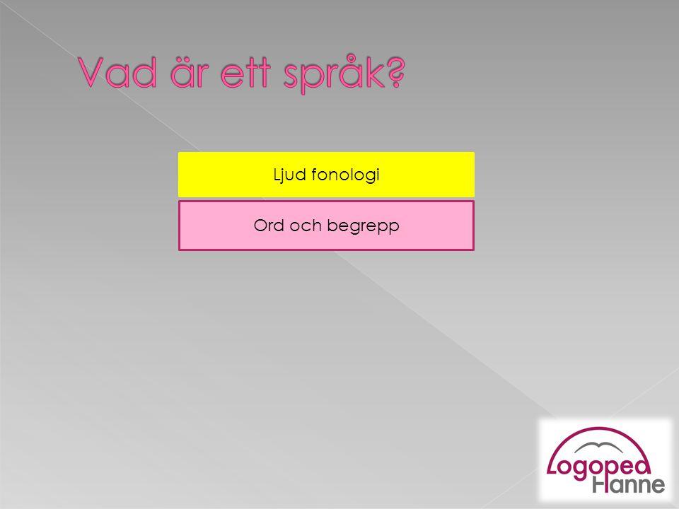 Vad är ett språk Ljud fonologi Ord och begrepp