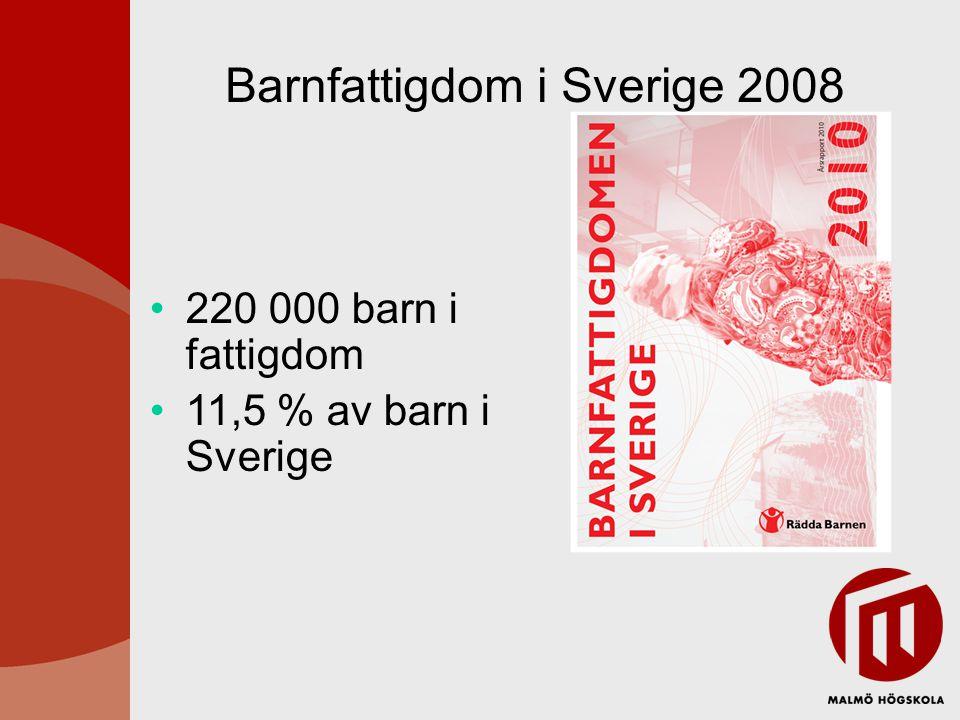 Barnfattigdom i Sverige 2008