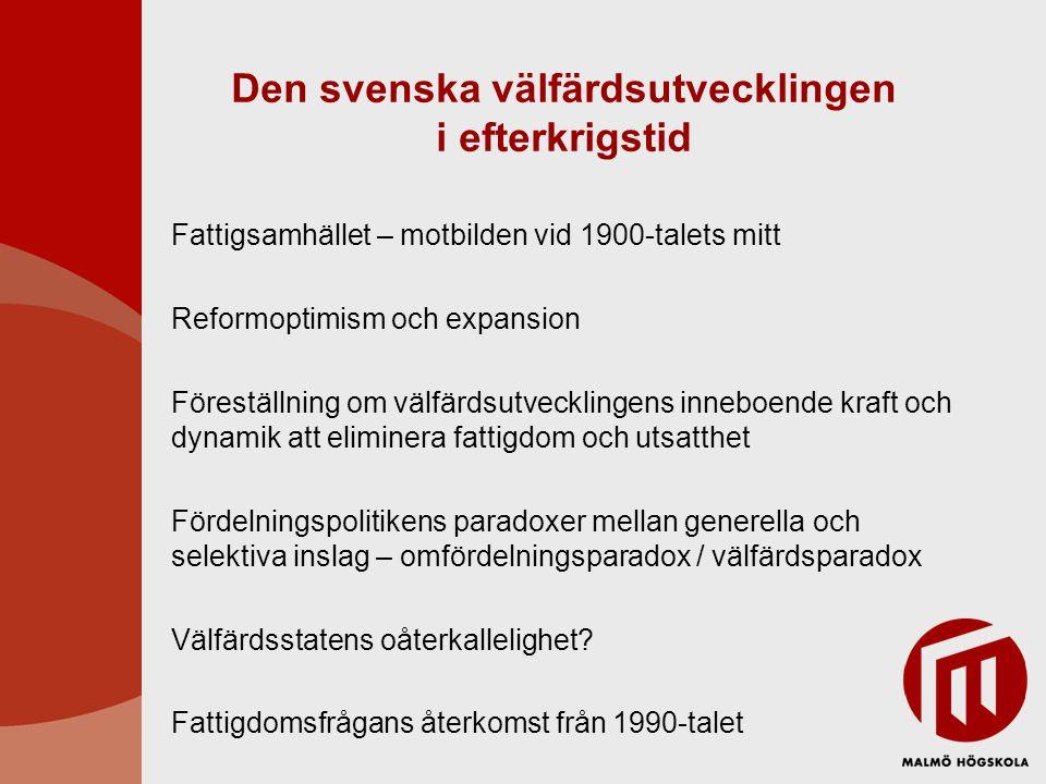 Den svenska välfärdsutvecklingen i efterkrigstid