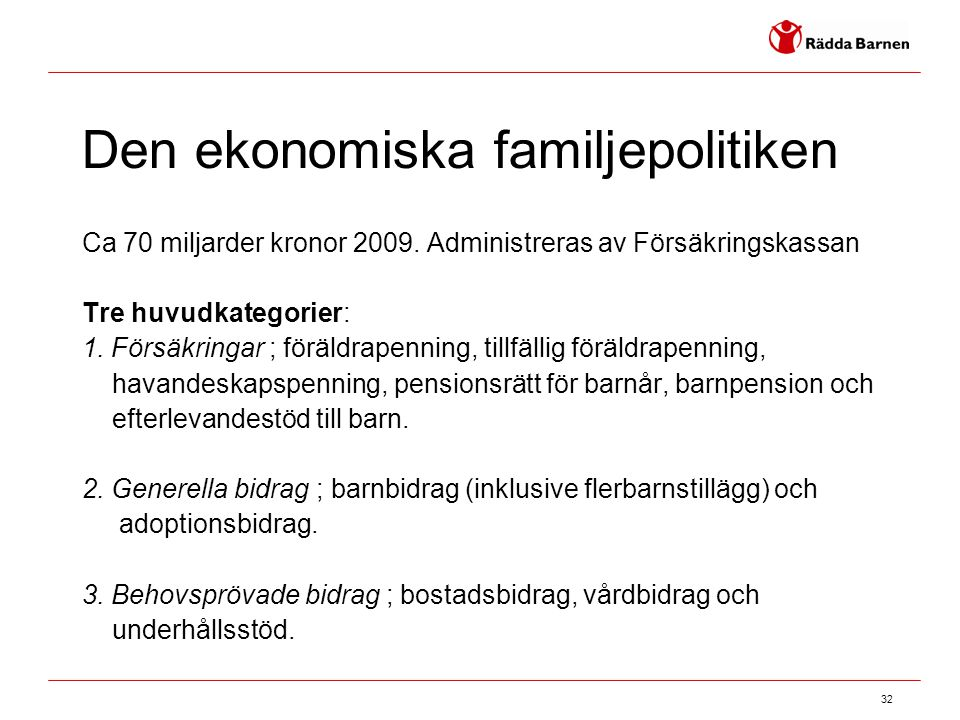 Den ekonomiska familjepolitiken