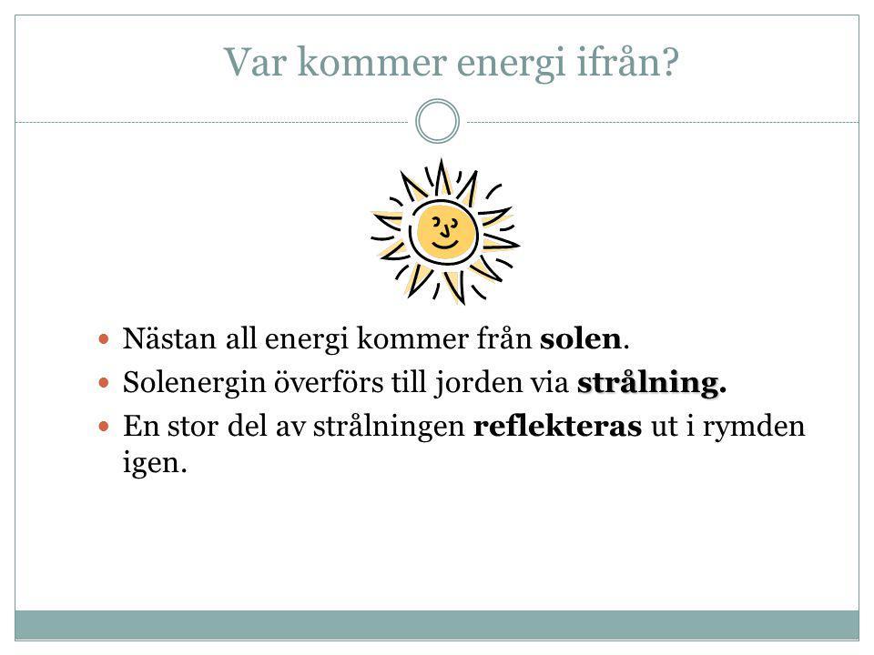 Var kommer energi ifrån