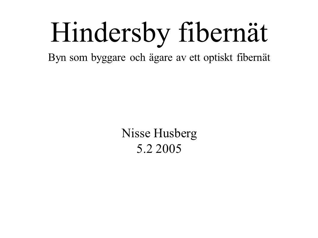Hindersby fibernät Byn som byggare och ägare av ett optiskt fibernät