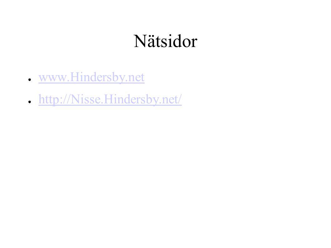 Nätsidor www.Hindersby.net http://Nisse.Hindersby.net/