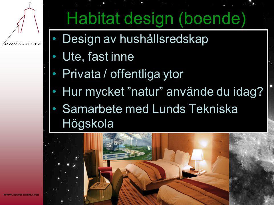 Habitat design (boende)
