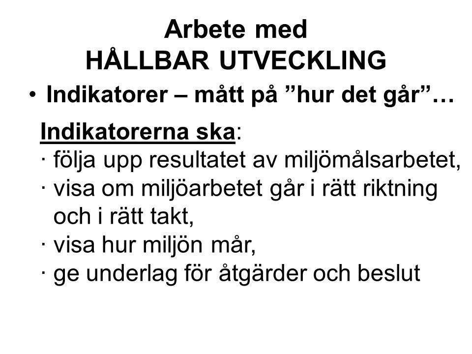 Arbete med HÅLLBAR UTVECKLING