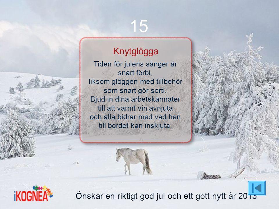 15 Knytglögga Önskar en riktigt god jul och ett gott nytt år 2013
