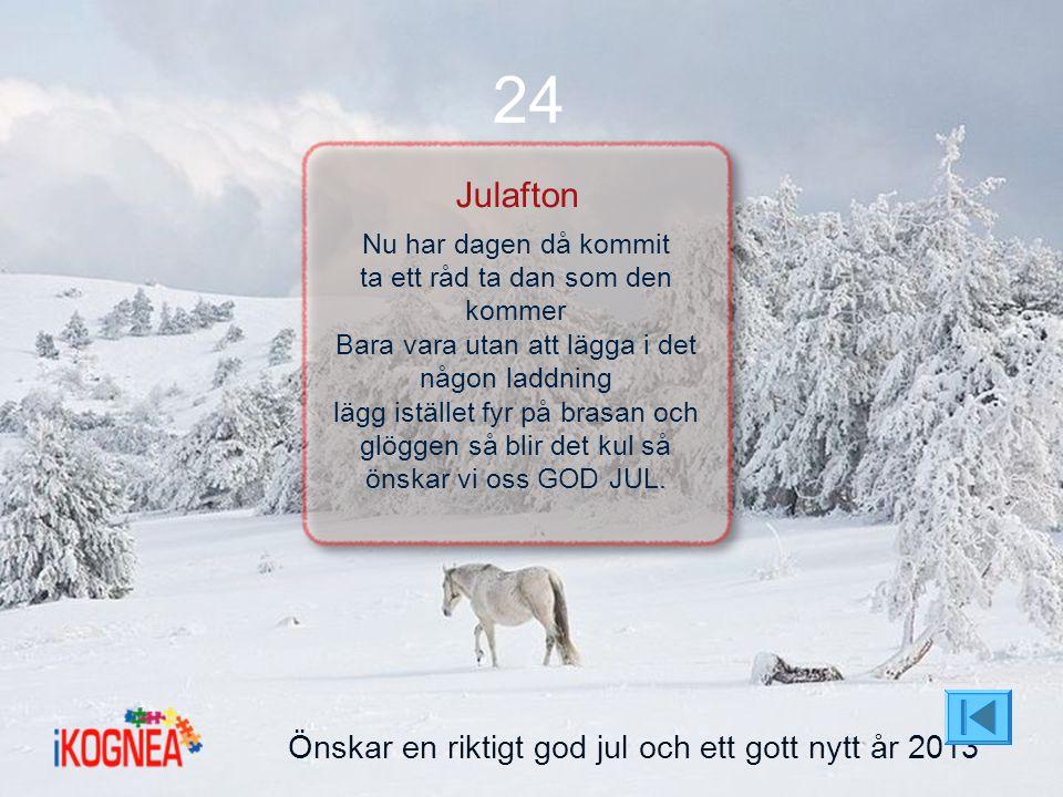 24 Julafton Önskar en riktigt god jul och ett gott nytt år 2013