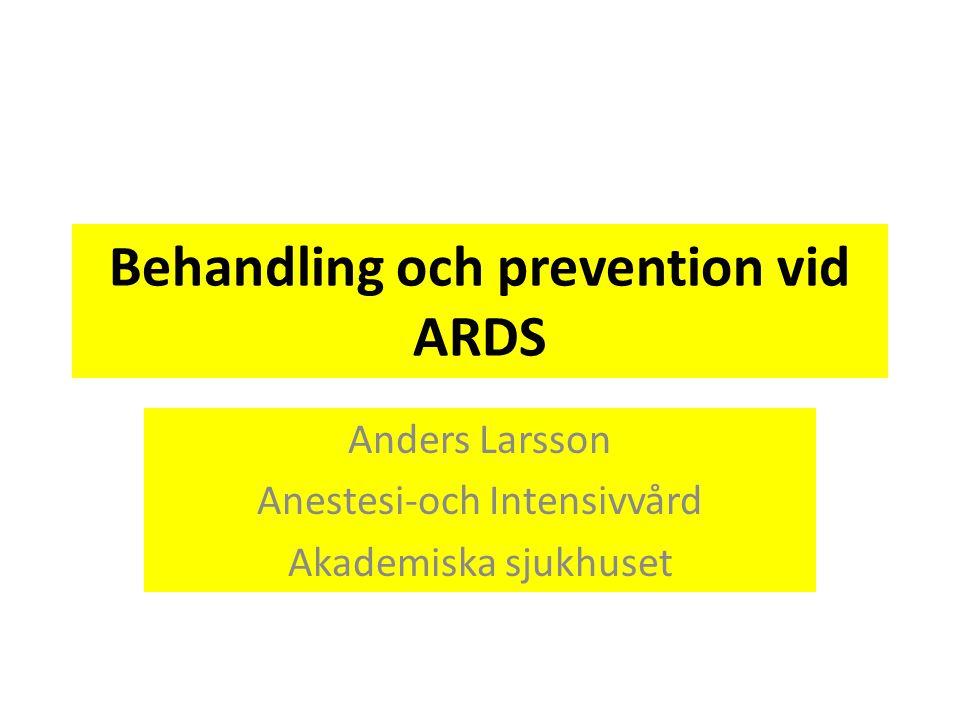Behandling och prevention vid ARDS