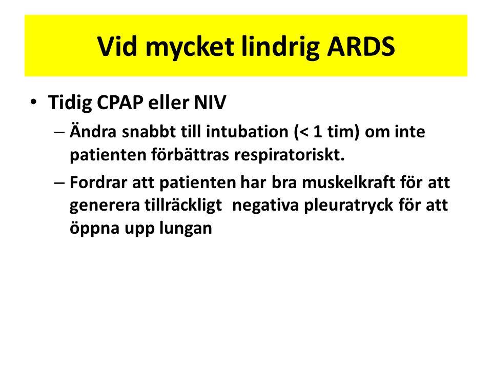 Vid mycket lindrig ARDS