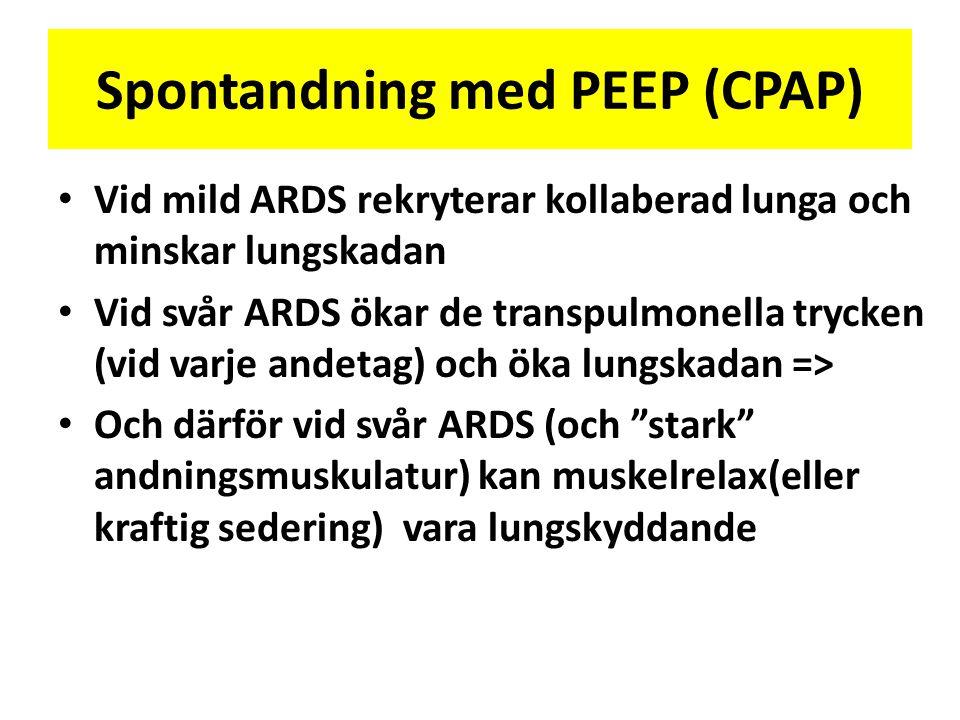 Spontandning med PEEP (CPAP)