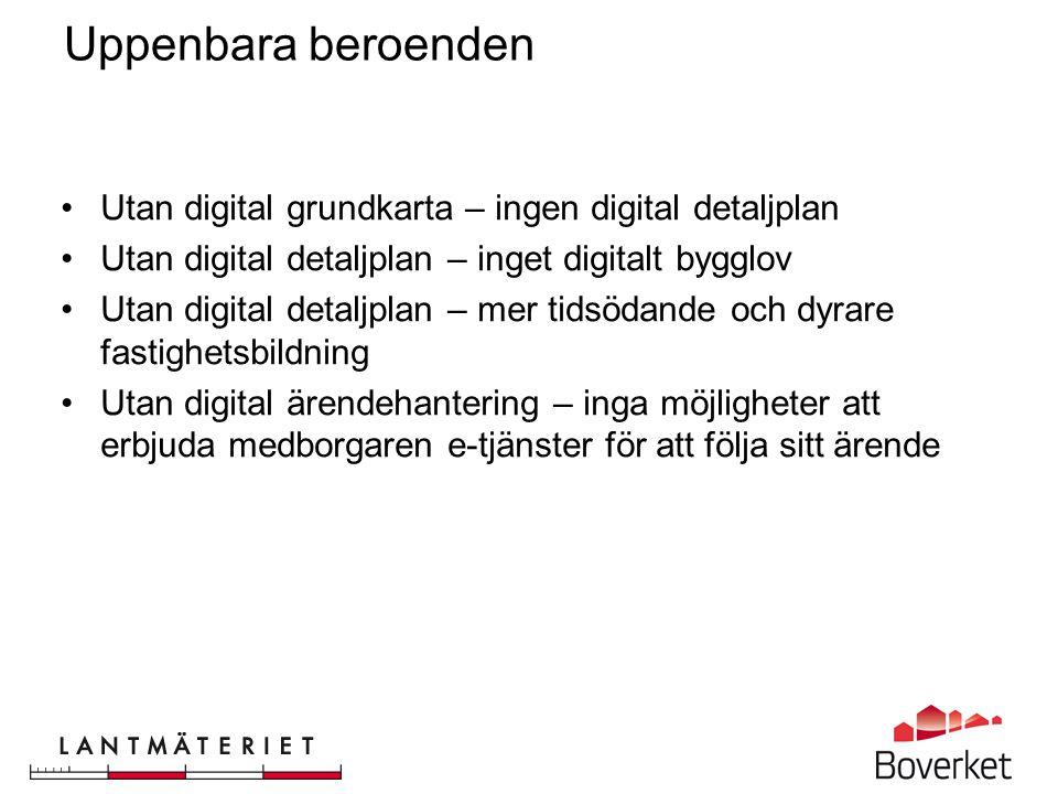 Uppenbara beroenden Utan digital grundkarta – ingen digital detaljplan