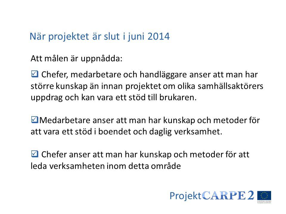 När projektet är slut i juni 2014