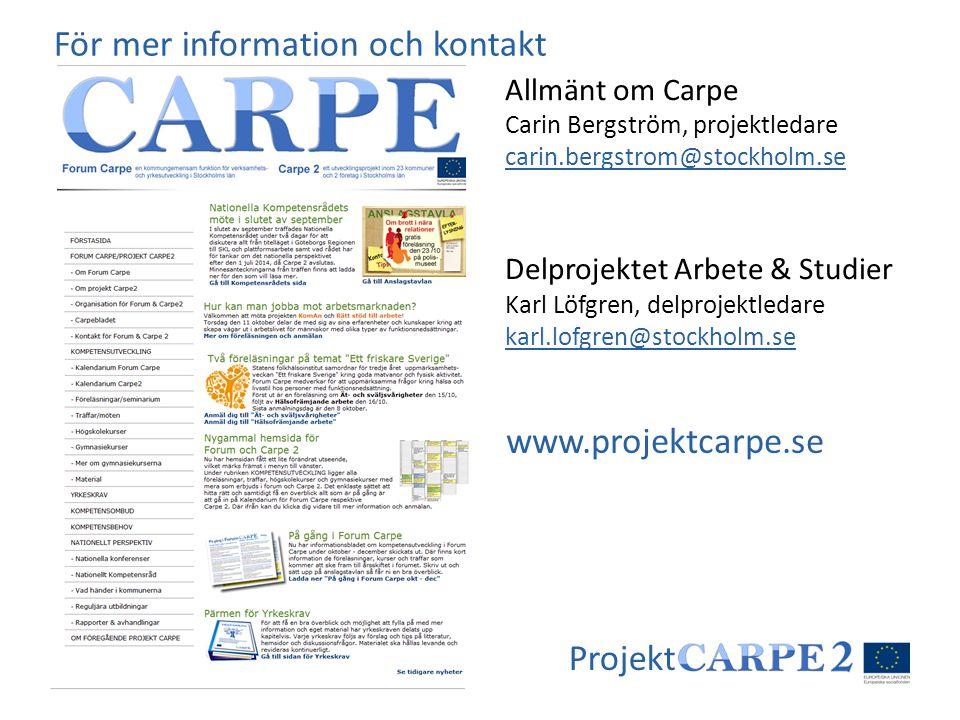 För mer information och kontakt