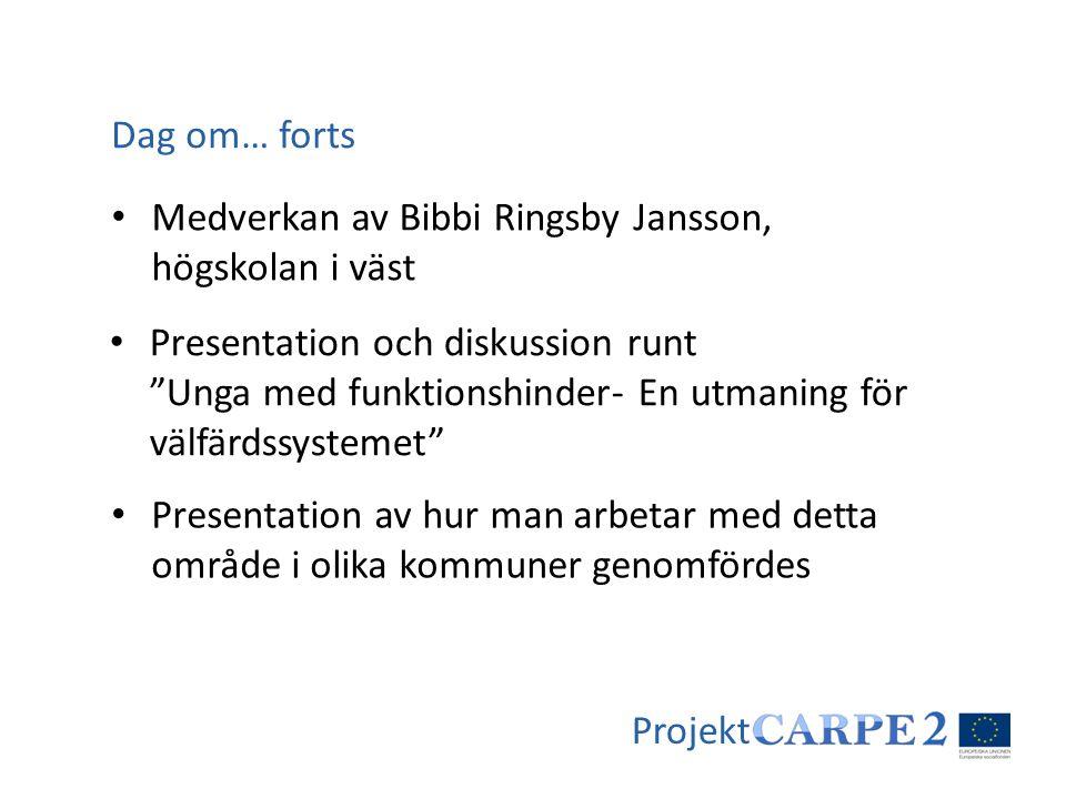 Dag om… forts Medverkan av Bibbi Ringsby Jansson, högskolan i väst.