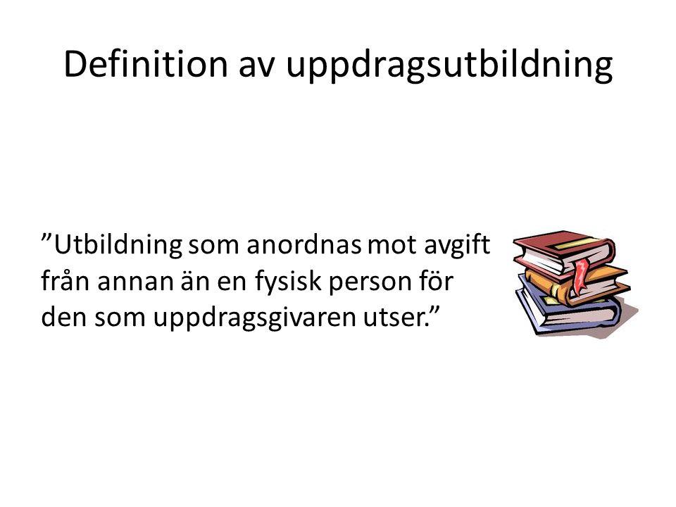 Definition av uppdragsutbildning