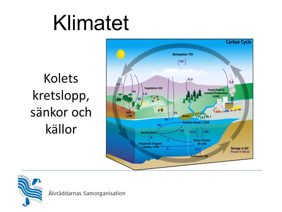 Klimatet Kolets kretslopp, sänkor och källor