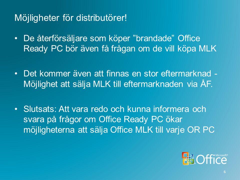 Möjligheter för distributörer!