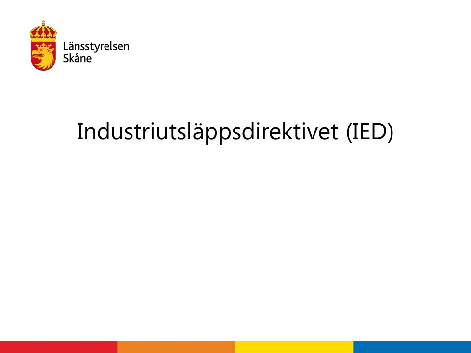 Industriutsläppsdirektivet (IED)