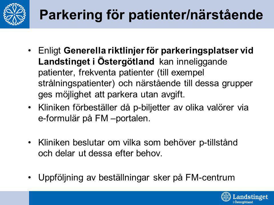 Parkering för patienter/närstående