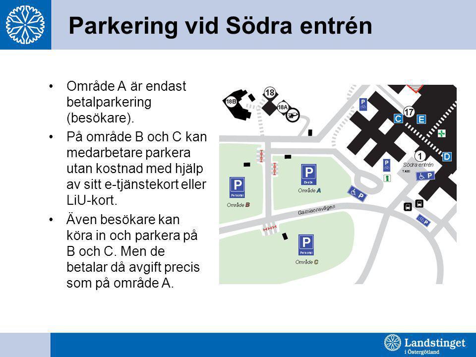 Parkering vid Södra entrén