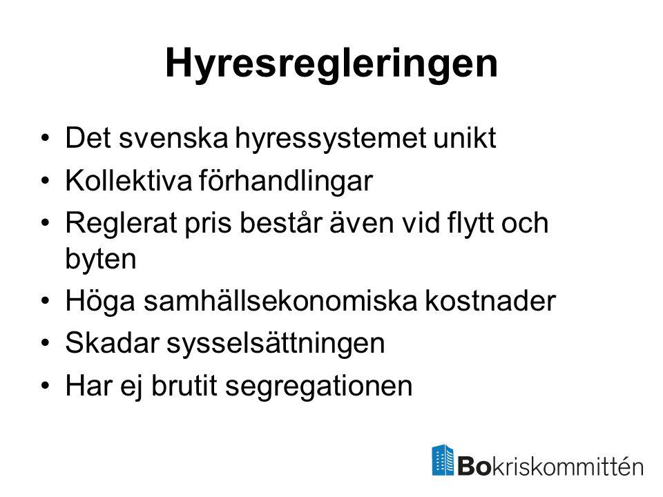 Hyresregleringen Det svenska hyressystemet unikt