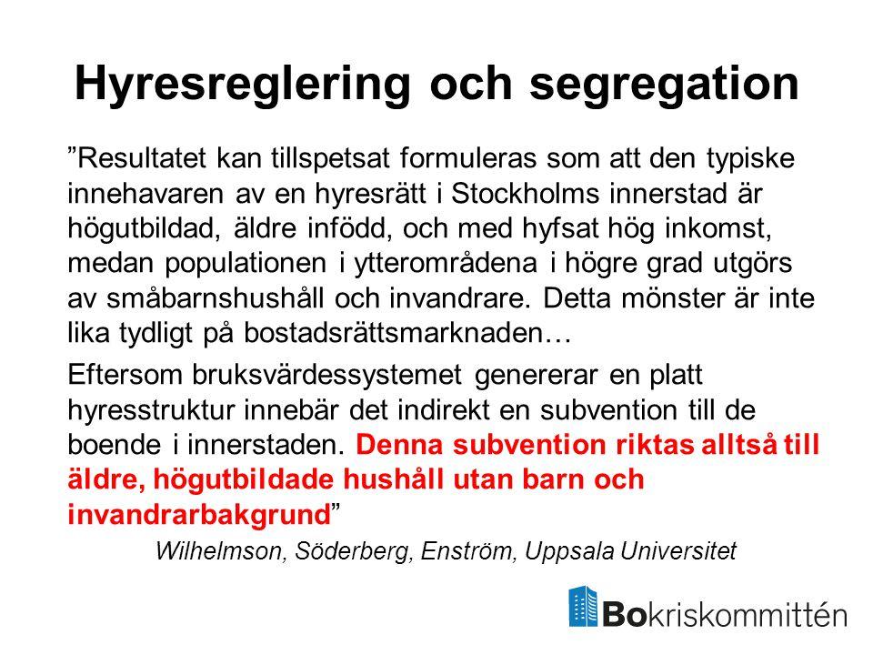 Hyresreglering och segregation