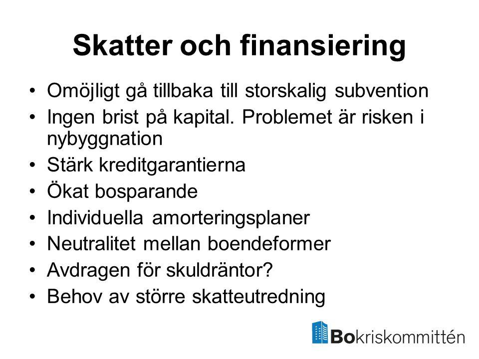 Skatter och finansiering