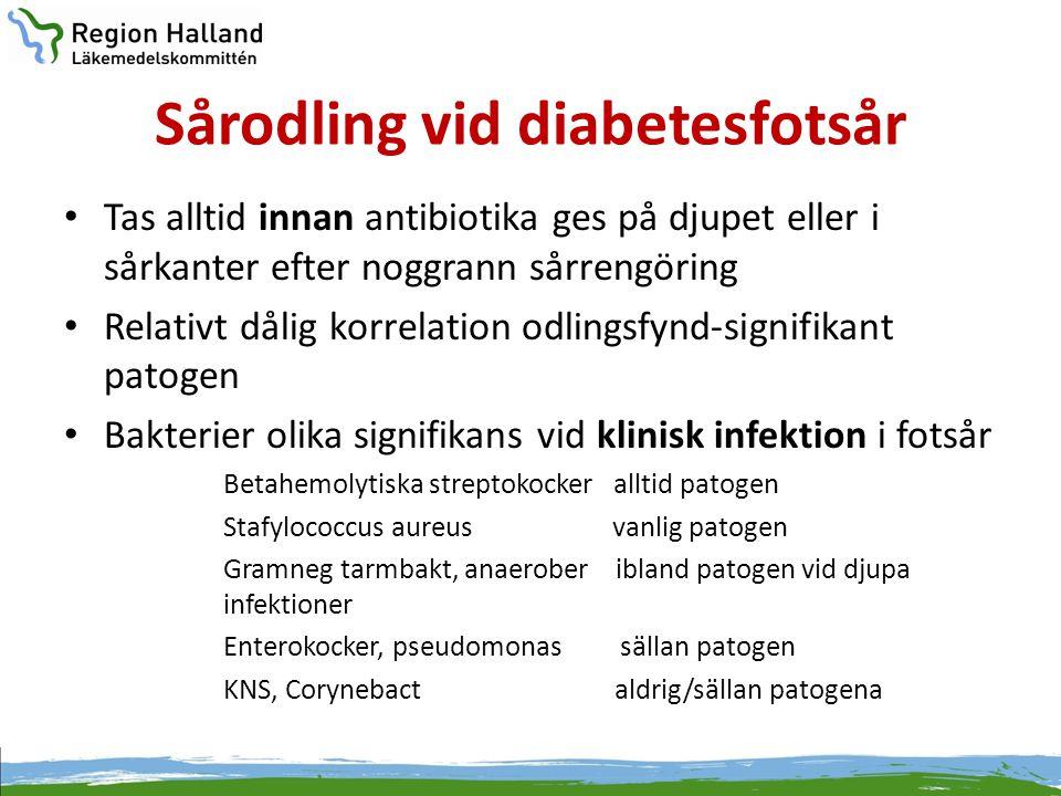 Sårodling vid diabetesfotsår