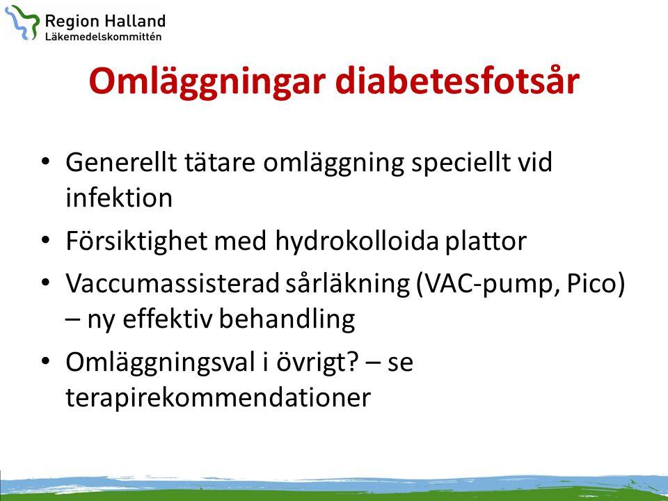 Omläggningar diabetesfotsår