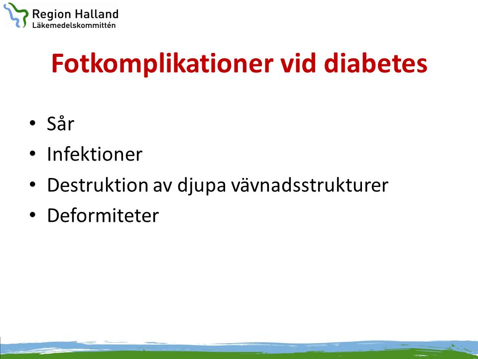 Fotkomplikationer vid diabetes