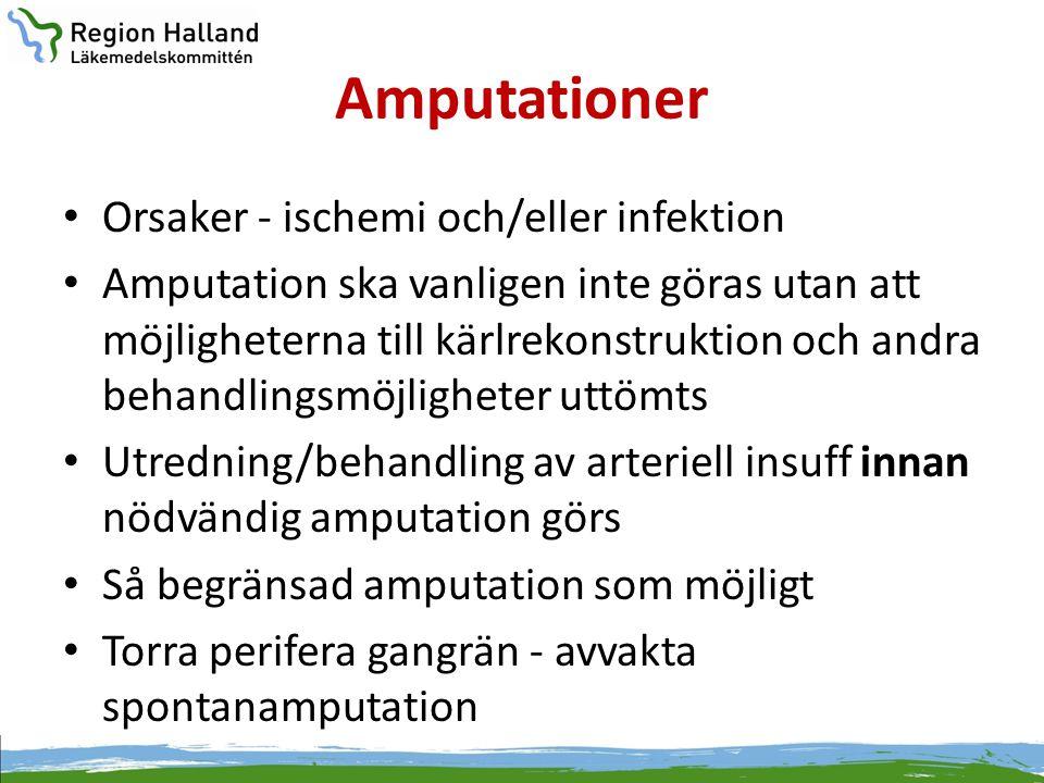 Amputationer Orsaker - ischemi och/eller infektion