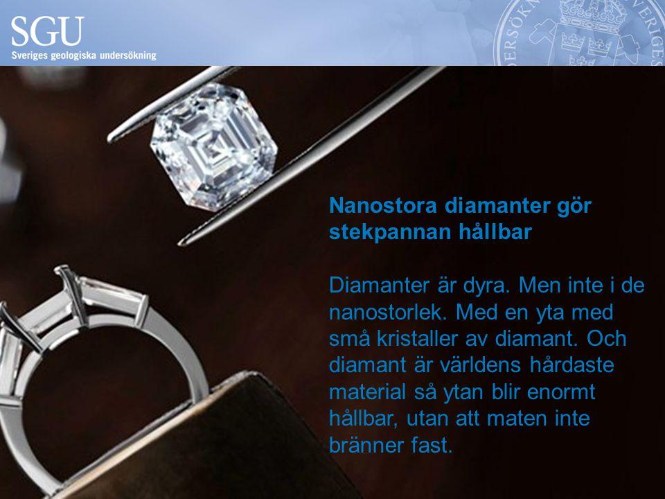 Nanostora diamanter gör stekpannan hållbar