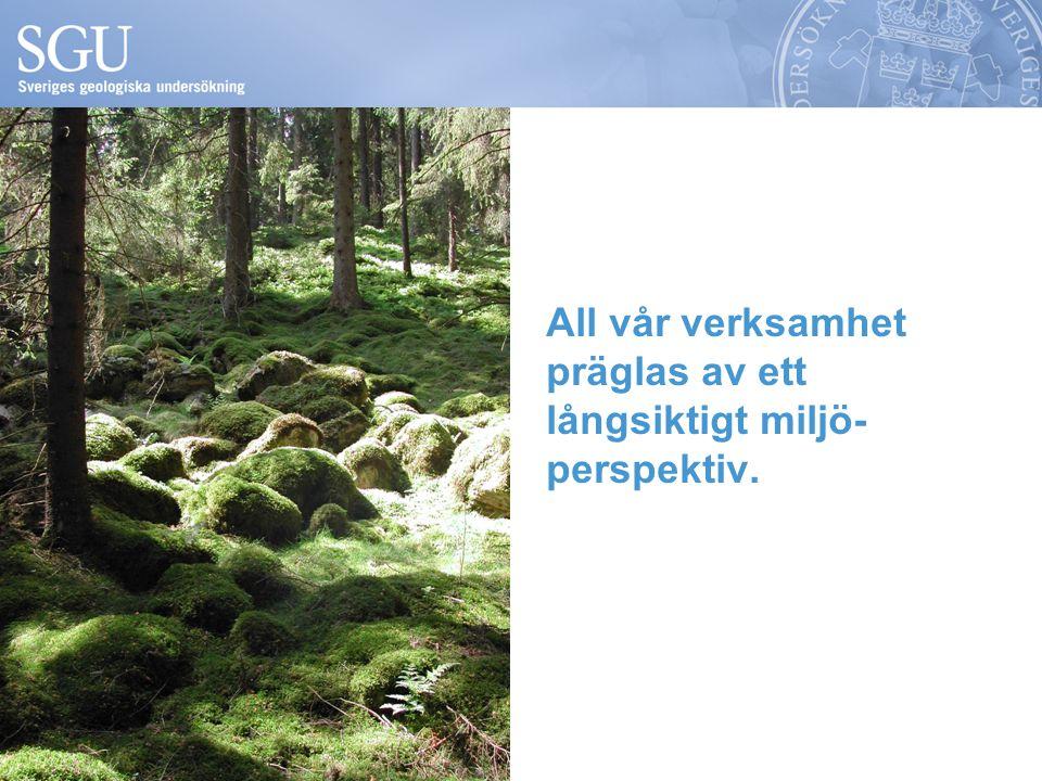 All vår verksamhet präglas av ett långsiktigt miljö-perspektiv.