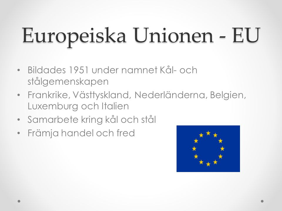 Europeiska Unionen - EU