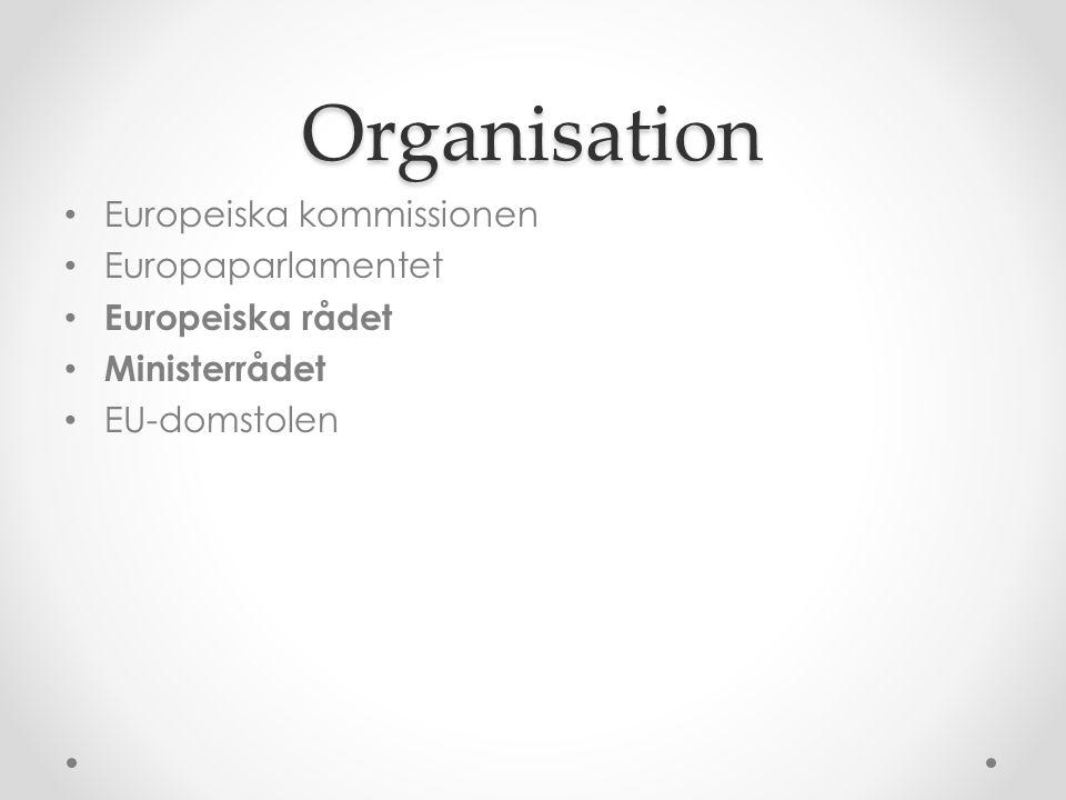 Organisation Europeiska kommissionen Europaparlamentet